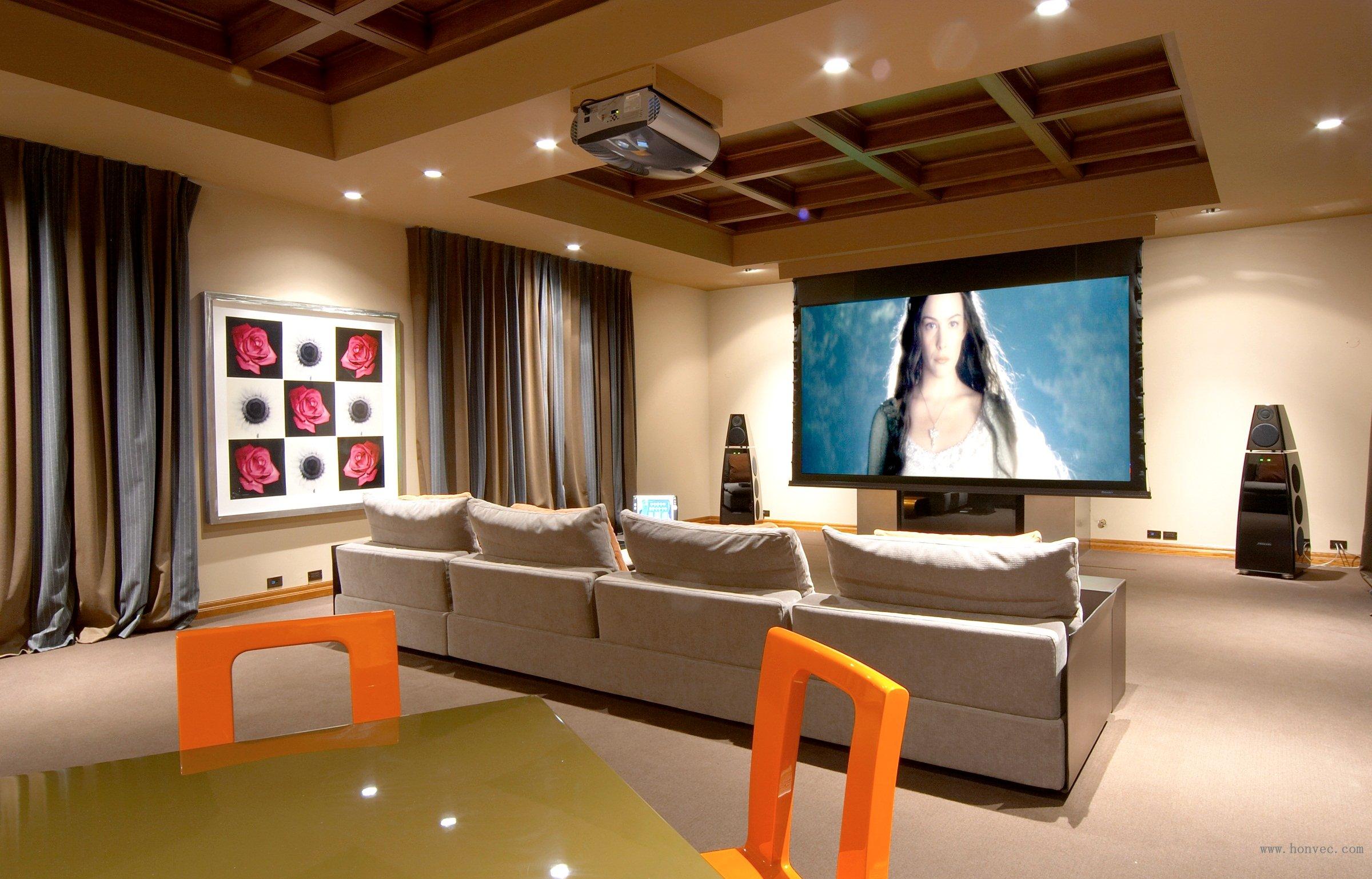 牧马山私人影院_家庭影院设计,会议系统,家庭影院装修