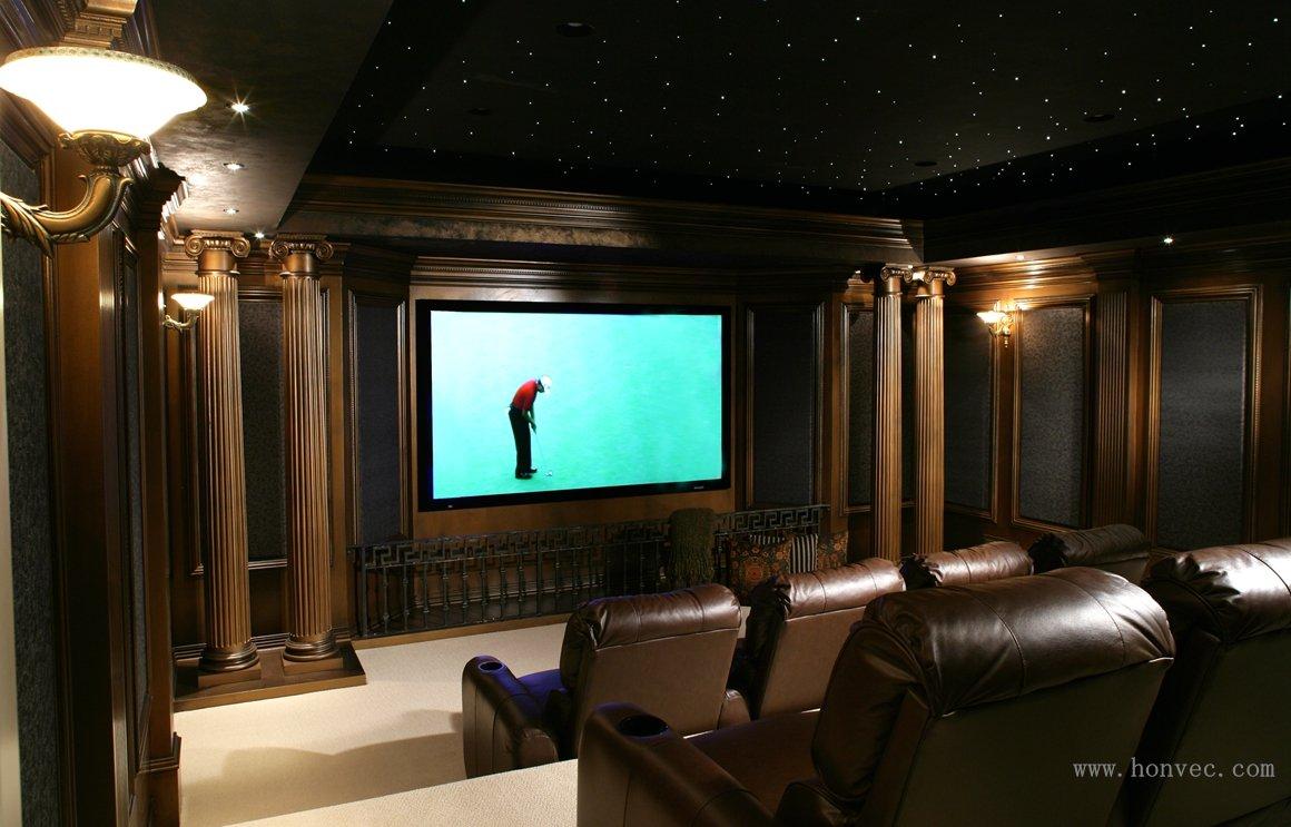 五龙山别墅地下室影院_家庭影院设计,会议系统,家庭-.